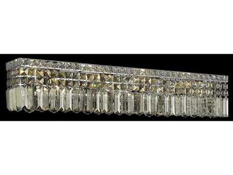 Elegant Lighting Maxim Royal Cut Chrome & Golden Teak Seven-Light Vanity Light