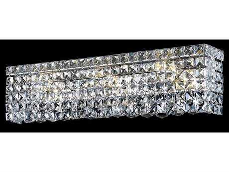 Elegant Lighting Maxim Royal Cut Chrome & Crystal Four-Light Vanity Light