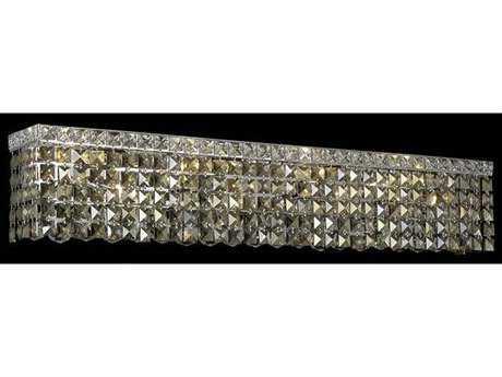 Elegant Lighting Maxim Royal Cut Chrome & Golden Teak Six-Light Vanity Light
