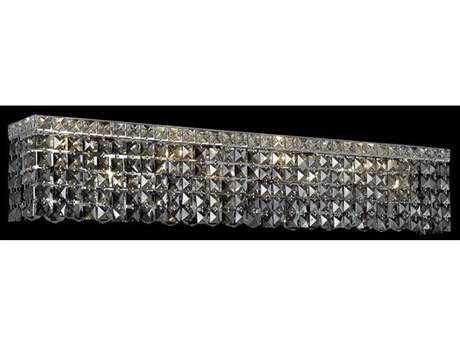 Elegant Lighting Maxim Royal Cut Chrome & Silver Shade Six-Light Vanity Light
