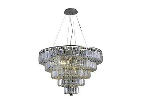 Elegant Lighting Maxim Royal Cut Chrome & Crystal 17-Light 30'' Wide Chandelier