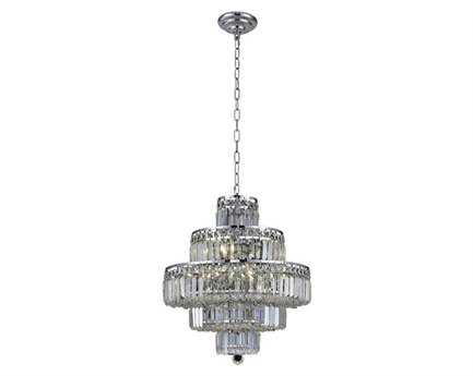 Elegant Lighting Maxim Royal Cut Chrome & Crystal 13-Light 20'' Wide Mini Chandelier