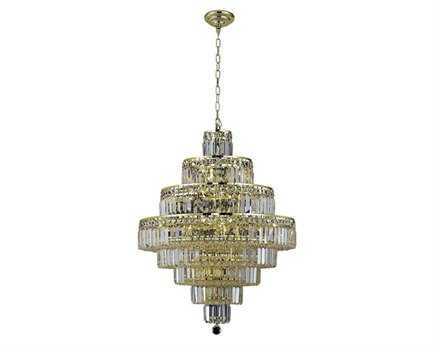 Elegant Lighting Maxim Royal Cut Gold & Crystal 18-Light 26'' Wide Chandelier