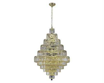 Elegant Lighting Maxim Royal Cut Gold & Crystal 30-Light 32'' Wide Grand Chandelier