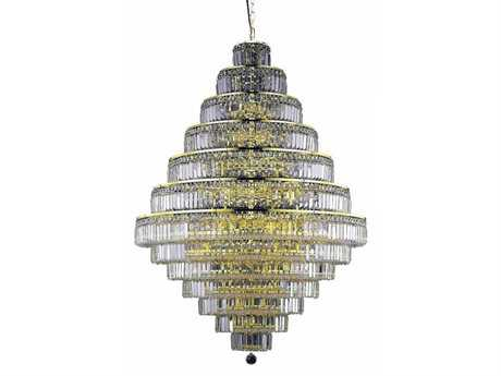 Elegant Lighting Maxim Royal Cut Gold & Crystal 38-Light 42'' Wide Grand Chandelier
