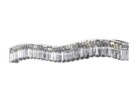 Elegant Lighting Contour Royal Cut Chrome & Crystal Ten-Light Vanity Light
