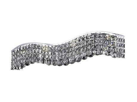 Elegant Lighting Contour Royal Cut Chrome & Crystal Six-Light Vanity Light