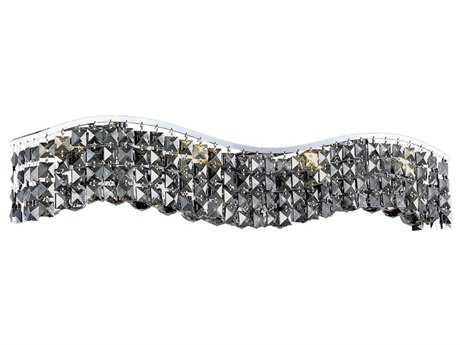 Elegant Lighting Contour Royal Cut Chrome & Silver Shade Six-Light Vanity Light