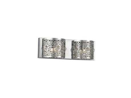 Elegant Lighting Soho Royal Cut Chrome & Crystal Two-Light Vanity Light