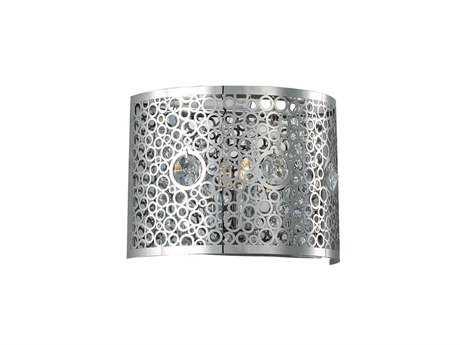 Elegant Lighting Soho Royal Cut Chrome & Crystal Wall Sconce