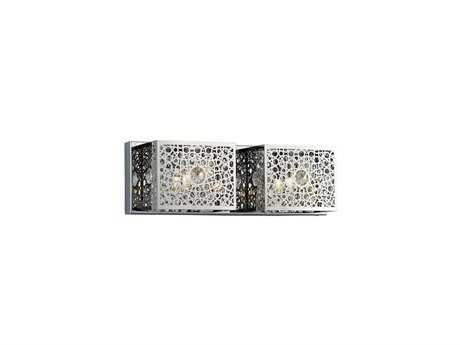 Elegant Lighting Soho Royal Cut Chrome & Crystal Two-Light Vanity Light