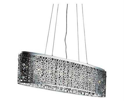 Elegant Lighting Soho Royal Cut Chrome & Crystal Eight-Light 46'' Long Island Light