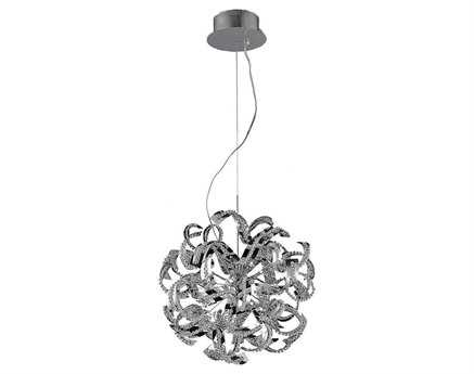 Elegant Lighting Tiffany Elegant Cut Chrome & Crystal 13-Light 22'' Wide Pendant