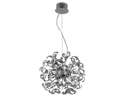Elegant Lighting Tiffany Elegant Cut Chrome & Crystal 25-Light 27.5'' Wide Pendant
