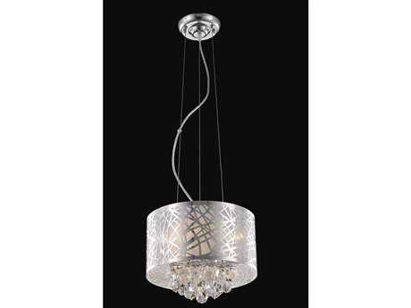 Elegant Lighting Prism Royal Cut Chrome & Crystal Three-Light 12'' Wide Pendant