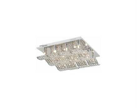 Elegant Lighting Concept Elegant Cut Chrome & Clear 12-Light 20'' Wide Flush Mount Light
