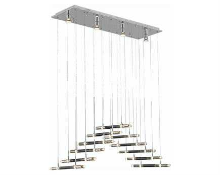 Elegant Lighting Alpha Elegant Cut Chrome & Clear 22-Light 41'' Long Island Light