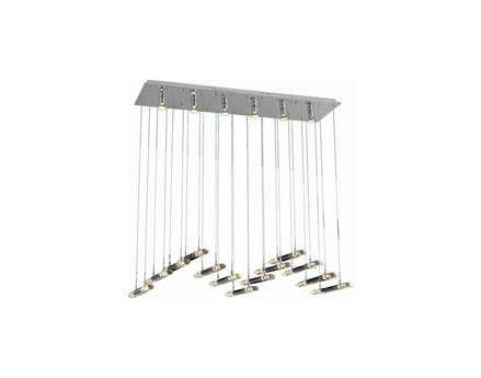 Elegant Lighting Alpha Elegant Cut Chrome & Clear 26-Light 47'' Long Island Light