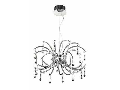 Elegant Lighting Hydra Royal Cut Chrome & Crystal 24-Light 28'' Wide Pendant