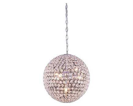 Elegant Lighting Chrome 14'' Wide Pendant
