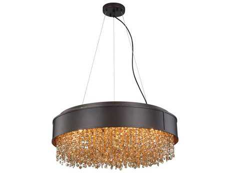 Elegant Lighting Regency Matte Dark Brown Six-Light 24'' Wide Pendant Light