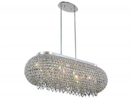 Elegant Lighting Brida Chrome Ten-Light 34'' Long Island Light