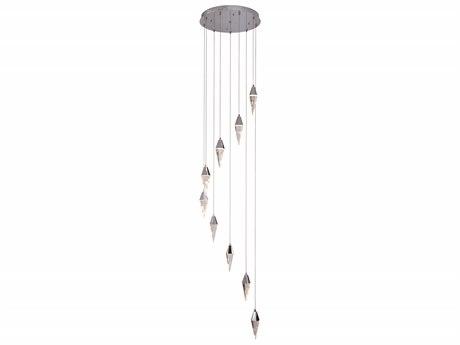 Elegant Lighting Stiletto Chrome Nine-Light 20'' Wide Pendant Light