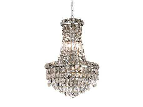 Elegant Lighting Tranquil Royal Cut Chrome & Crystal Six-Light 12'' Wide Mini Chandelier