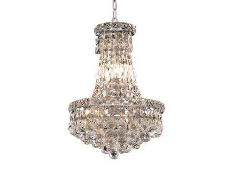 Elegant Lighting Tranquil Royal Cut Chrome & Crystal Six-Light 12'' Wide Mini Chandelier