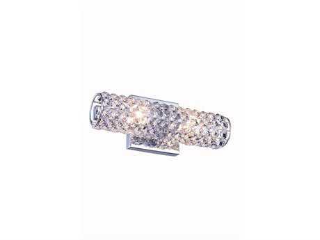 Elegant Lighting Holland Chrome Two-Light Vanity Light