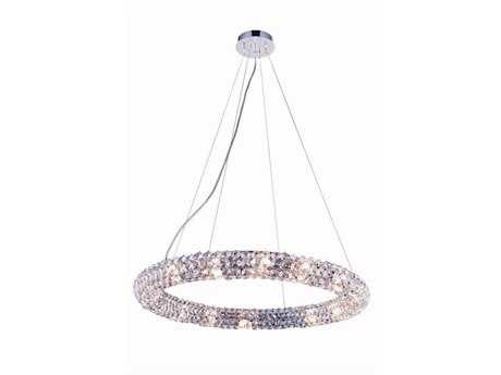 Elegant Lighting Halo Chrome 16-Light 24'' Wide Pendant