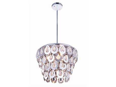 Elegant Lighting Sophia Chrome Four-Light 16'' Wide Pendant