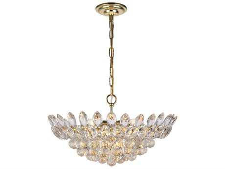 Elegant Lighting Vesper Gold Ten-Light 20'' Wide Pendant Light