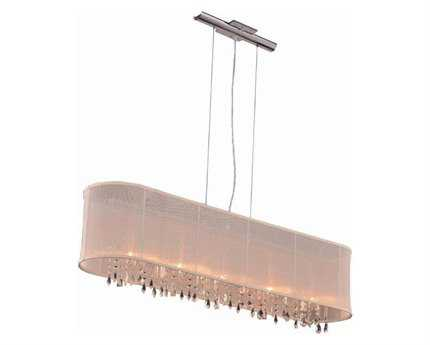 Elegant Lighting Harmony Royal Cut Chrome & Crystal Five-Light 44'' Long Island Light