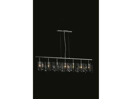 Elegant Lighting Harmony Royal Cut Chrome & Crystal Seven-Light 54'' Long Island Light