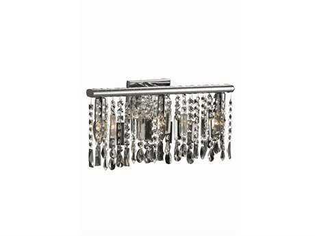 Elegant Lighting Harmony Royal Cut Chrome & Crystal Three-Light Wall Sconce