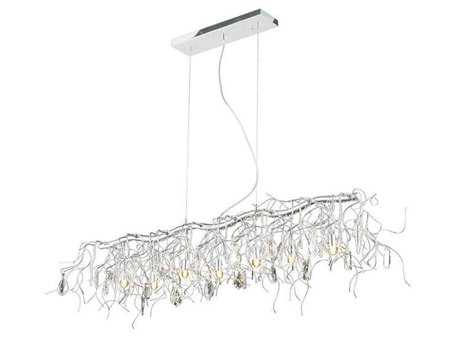 Elegant Lighting Harmony Crystal & Crystal Seven-Light 12'' Long Island Light