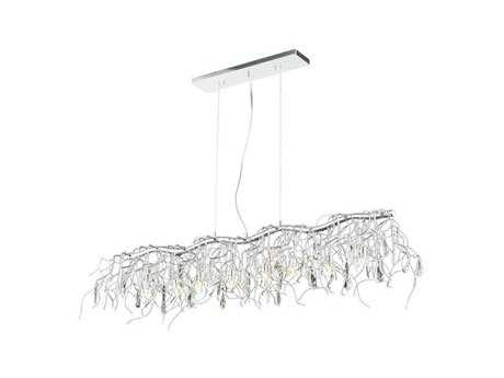 Elegant Lighting Harmony Crystal & Crystal Eight-Light 12'' Long Island Light