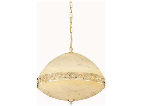 Elegant Lighting Italia Gold & Clear Crystal Six-Lights 20'' Wide Pendant Light