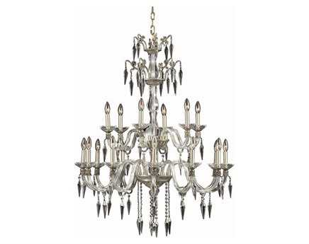 Elegant Lighting Grande Elegant Cut Pewter & Crystal 18-Light 36'' Wide Grand Chandelier