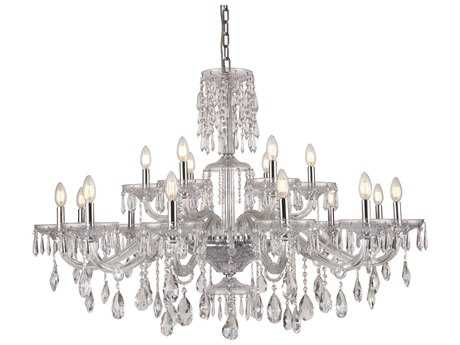 Elegant Lighting Elliott Chrome 18-Light 45'' Wide Grand Chandelier