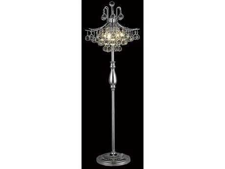 Elegant Lighting Toureg Royal Cut Chrome & Crystal Six-Light Floor Lamp