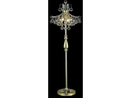 Elegant Lighting Toureg Royal Cut Gold & Crystal Six-Light Floor Lamp