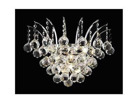 Elegant Lighting Victoria Royal Cut Chrome & Crystal Three-Light Wall Sconce