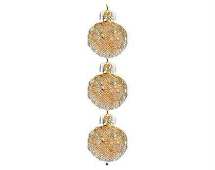 Elegant Lighting Spiral Royal Cut Gold & Crystal 30-Light 22'' Wide Pendant