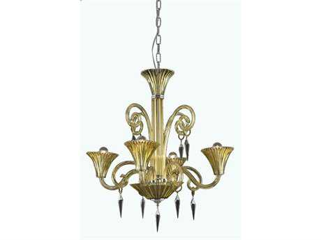 Elegant Lighting Symphony Elegant Cut Four-Light 28'' Wide Chandelier
