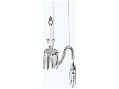 Elegant Lighting Majestic Chrome & Clear Crystal 14'' Wide Pendant Light
