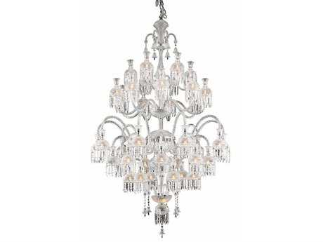 Elegant Lighting Majestic Elegant Cut Chrome & Crystal 42-Light 54'' Wide Grand Chandelier