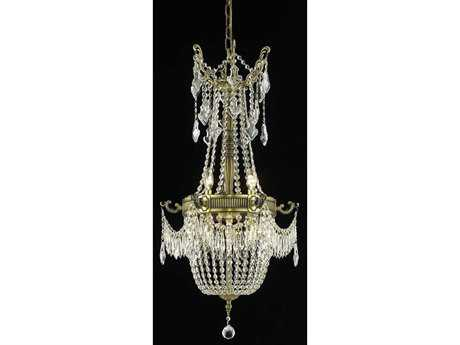 Elegant Lighting Esperanza Royal Cut Antique Bronze & Crystal Six-Light 18'' Wide Chandelier
