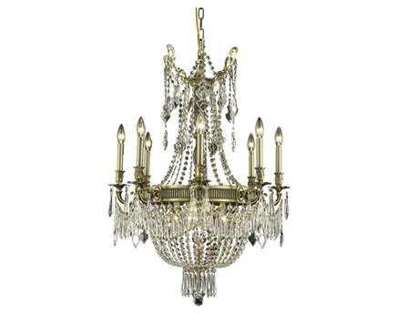 Elegant Lighting Esperanza Royal Cut Antique Bronze & Crystal 12-Light 26'' Wide Chandelier